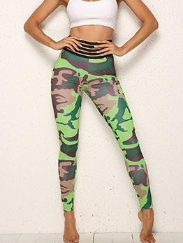 Hot Sale High Waist Camouflage Skinny Yoga Pants