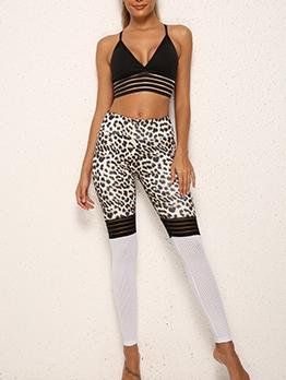 Hot Sale Leopard Print Skinny Yoga Pants
