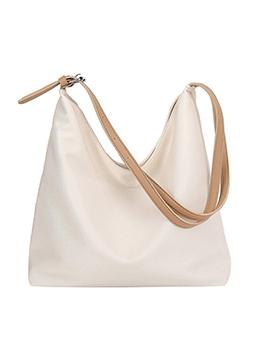 Pure Color LargeCapacity Heap Shoulder Bags