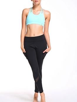 High Waist Gauze Yoga Leggings For Jogging