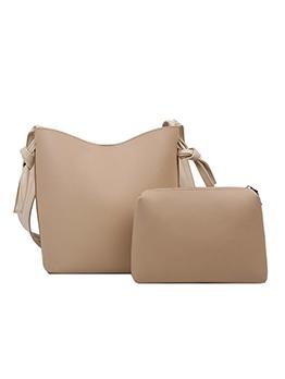 Simple Solid Color 2 Piece Shoulder Bags