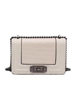 Korean Stone Grain Fashion Shopping Shoulder Bag
