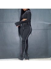 High Waist Ladies Tracksuits, Long Sleeve, Mock Neck