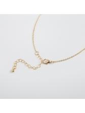 Constellation Letter Rhinestone Women Chain Necklace