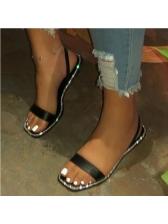 Square Toe Summer Rhinestone Stylish Slippers