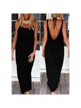 Casual Open Back Sleeveless Maxi Dress