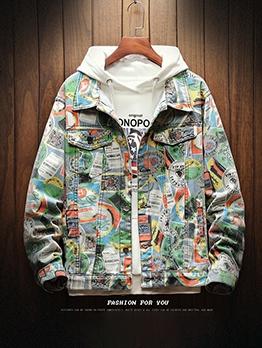 Plus Size Slogan Print Jackets For Men