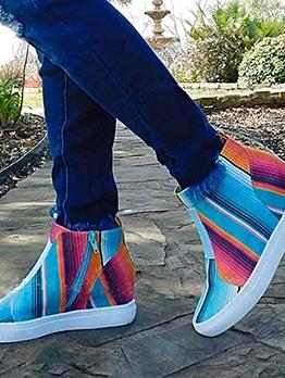 Gradient Color Flat Elevator Shoes Sneakers