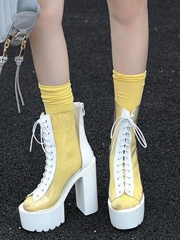 High Platform Chunky Heel Ladies Boots