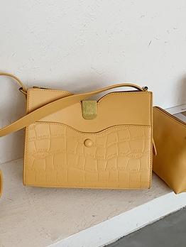 Fashion Solid Easy Match Women Shoulder Bag