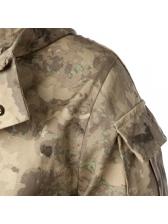 Hooded Collar Pockets Camo Coat For Men