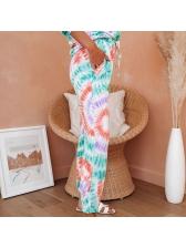 Tie Dye Casual Long Sleeve Women Set For Autumn