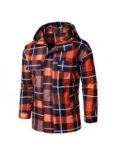 Autumn Plaid Long Sleeve Mens Jackets