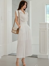 OL Style Solid Jumpsuits For Women