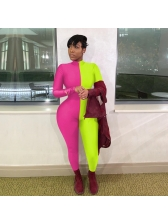 Matching Solid Long Sleeve Women Jumpsuit