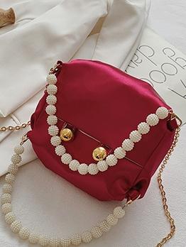 Fashion Pop Chain Faux-Pearl Women Shoulder Bag