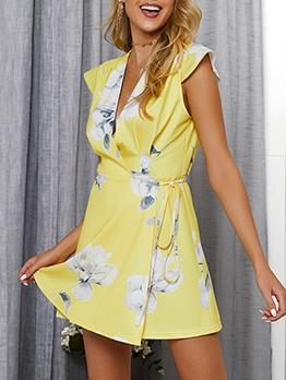 Bohemian Short Sleeve Printed Summer Dress