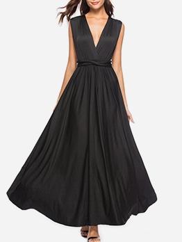 Deep v Backless Cheap Maxi Dresses
