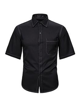 Trendy Plain Short Sleeve Shirts For Men