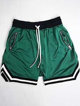Training Contrast Color Short Pants For Men