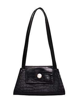 Trendy Solid Color Alligator Pattern Shoulder Bags