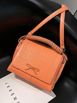 Stylish Bow Decor Crossbody Shoulder Bag With Handle
