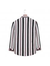 Striped Mens Shirt Long Sleeve Casual