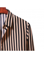 Single-Breasted Striped Casual Shirt For Men