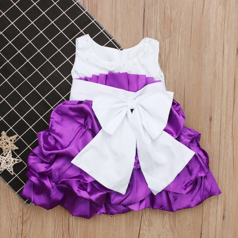 Sweet Bow Knot Sleeveless Princess Dresses For Girls