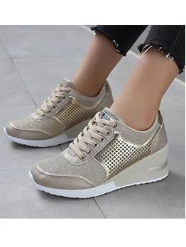 Casual Breathable Wedge Women Elevator Sneakers