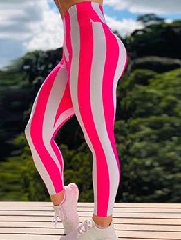 Bright Contrast Color Fitness Skinny Leggings