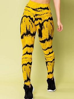 Mixed Color Full Length High Waist Leggings