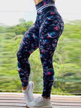 Bubble Printing High Waist Female Leggings