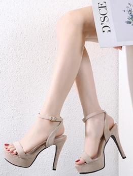 Fashion Platform High Heel Ladies Sandal