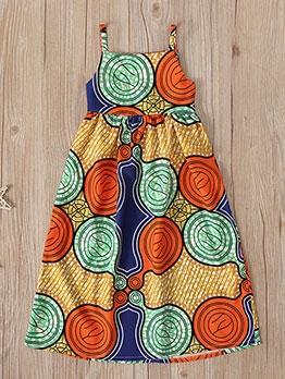 Bohemian Style Printed Girls Camisole Dress