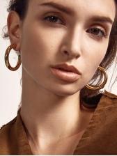Street Simple Metal Round Earrings