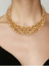 Fashion Exaggerated Metal Rhinestone Necklace