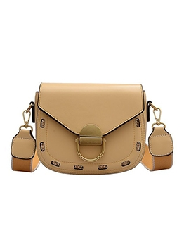 Removable Wide Strap Chain Decorated Shoulder Bags