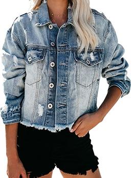 Fashion Washed Button Down Denim Jacket
