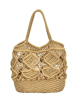 Hollow Out Woven Beach Over The Shoulder Bags