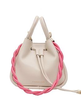 Twist Strap Drawstring Women One Shoulder Bags