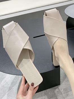 Casual Closed Toe Solid Ladies Mules