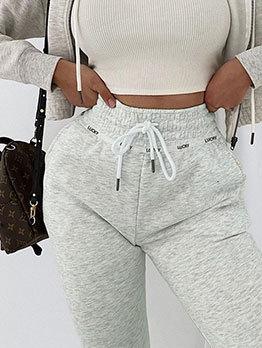 Casual Drawstring Jogger Pants For Women