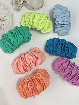 Retro Solid Pleated Women Hair Accessories