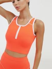 Fitness Wear Sleeveless Skinny 2 Piece Outfits