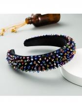 Colourful Glass Beads Women Hair Hoop