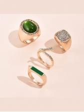 Pop Street Rhinestone Rings Combination Set