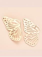 Trendy Solid Street Snap Butterfly Earrings