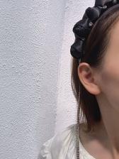 Black Rhinestone Tassel Fashion Hair Hoop