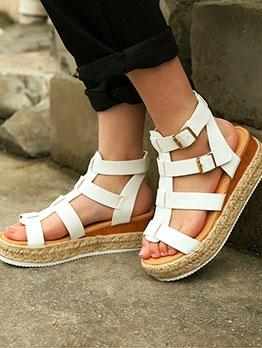 Stylish Open Toe Platform Wedge Sandals